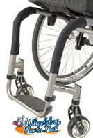 "4"" Front Tube Wheelchair Impact Guard. Full Round Shape"