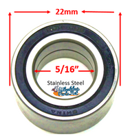"B10SS - 5/16"" x 22mm STAINLESS STEEL BEARINGS - Sold as pack of 4"