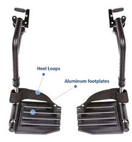 "Invacare T93HAP Set of Footrest with Hemi 1 3/8"" Pin Spacing in BLACK Color. Sold as Pair"