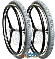 "NEW - SET of X-CORE 24"" (540m) 3 Spoke Wheel With GREY Primo Orion Tires"