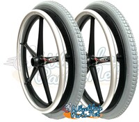 "22"" x 1 3/8""  X-CORE 5 spoke Wheel with PNEUMATIC TIRE & TUBE. Sold as Pair"