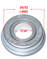 B25P- 7/16 X 29/32 (.906) FLANGED CASTER REF#7162932. Sold as Pack of 4