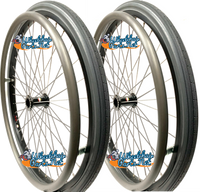"22"" x 1 3/8"" Sun L20 Rim With SOLID Polyurethane Tire. SET OF 2 WHEELS"
