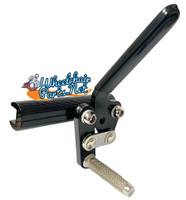 WL170-  BLACK ALUMINUM WHEEL LOCK WITHOUT CLAMP- RIGHT