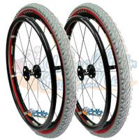 "24"" Fusion 16 Wheel W/ Kenda Kobra Tire (2 inch Wide) Red Side Wall"