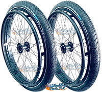 """24"""" x 2"""" (50-507) Wheel With Schwalbe Big Apple Tire and Tube. Set of 2"""