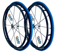 """24"""" SPINERGY 12 SPOKE LX WITH PRIMO RACER TIRES. PAIR"""