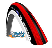 T415-2 SCHWALBE RIGHT RUN PLUS. BLACK AND RED.  NON-MARKING.