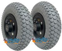 "CW209-7    200x50 (8"" X 2"") Pneumatic Wheel With 7/16"" bearings."