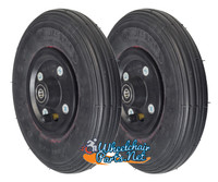 "CW196-7    8 x 2"" BLACK Non-Marking Pneumatic Tire and Tube Assembly. 7/16"" Bearings"