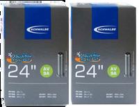 "I109SC- Schwalbe 25-540 (24X1"") High Pressure Inner Tube, Standard Valve. Sold as pair."