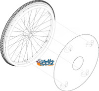 "Clear Spoke Protector - Fits on 24"" Rims"