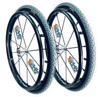 """24"""" SPINERGY 12 SPOKE LX WITH PRIMO 24""""x1 3/8"""" All Terrain Tires"""