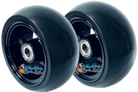 """3"""" x 1.4"""" Caster Wheel With BLACK COLOR Aluminum Rim and 5/16"""" Bearings."""