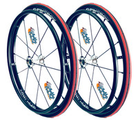 """24"""" SPINERGY 12 SPOKE LX WITH SCHWALBE RIGHT RUN TIRES. PAIR"""