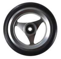"CW052-B- 5X1"" ALUMINUM WHEEL W/ URETHANE ROUND TIRE SOLD AS PAIR"