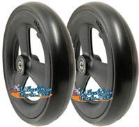 "CW126PB- 7X1"" HOLLOW SPOKE CASTER WHEEL WITH 1"" HUB WIDTH - ONE PAIR"