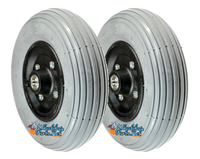 "CW203- 8 X 2"" Foam Fill Wheel Assembly With 7/16"" bearings."