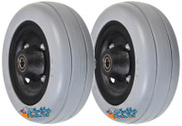 "CW237P - 6""x2"" Caster Wheel Assembly for Invacare TDX3, TDX4, & TDX5 (Set of 2)"