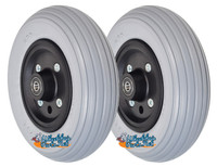 "CW251G - 7 X 2"" QUICKIE TYPE CASTER WHEEL WITH URETHANE RIB TIRE - ONE PAIR"