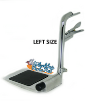 HDFR211L- Bariatric, Bottom Latching Footrest, Left Size, cam lock std, lt pin spacing - 3""