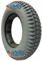"F085-2  14 x 3"" (3.00-8) Knobby Foam Filled Tire with Star Keyway Tab"