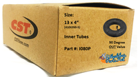 """I080P- 13X4"""" (410X350-5) Standard Tube, 90 out valve. Sold as pair."""