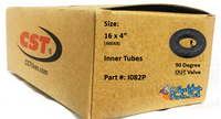 """I082P- 16X4"""" (400X8) Standard Tube, 90 out valve. Sold as pair."""
