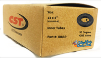 """I083P- 13X4"""" (410X350-6) Standard Tube, 90 out valve. Sold as pair."""