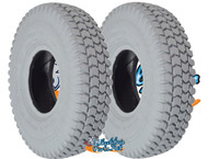 "T059P-  10 X 3"" (260X85)  KNOBBY TREAD PNEUMATIC TIRE. SOLD AS PAIR"