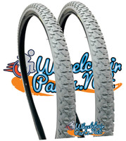 "T093P- 24 X 1-3/8""  ALL TERRAIN KNOBBY TREAD. SOLD AS PAIR"