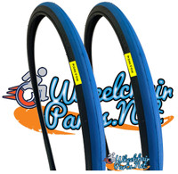 "T104-1  24 X 1"" BLUE TIRE. SOLD AS PAIR"
