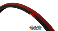 "T104-2P-  24 X 1"" RED TIRE. SOLD AS PAIR"