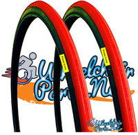 """T104-2P-  24 X 1"""" RED TIRE. SOLD AS PAIR"""