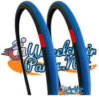 "T106-1P-  26 X 1"" BLUE TIRE. SOLD AS PAIR"