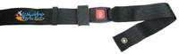 "SB010-  48"" Long Positioning Belt, Push Button Buckle,  Black 2"" Webbing."