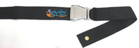 "SB050- 48"" Long Positioning Belt, Airline Buckle,  Black 2"" Webbing."