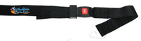 "SB220-  60"" Long Axle Mount Positioning Belt, with Push Button Buckle, Black 2"" Webbing."