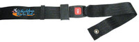 "SB225- 84"" Long Positioning Belt, Bariatric, Push Button Buckle, Black 2"" Webbing."