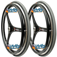 "RW59X  25 X 1"" (559mm)  X-CORE 3 SPOKE WHEEL W/PRIMO RACER GREY TIRE"