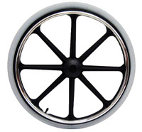 "24 x 1 3/8"" Black Mag Wheel for 7/16"" Axle with 2.4"" Hub width"