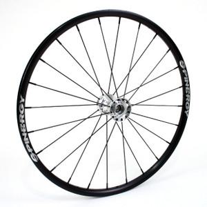 "26"" Spinergy , 24 Spokes Spox Sports Rear Wheel With Chrome Hub & Black Spokes"