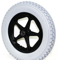 "12.5"" x 2.25"" FLAT FREE WHEEL & TIRE ASSEMBLY WITH 1/2"" BERINGS. SOLD AS PAIR"