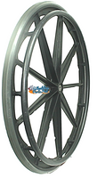 "RW18X - 24x1 Invacare/Drive 9 Spoke Mag Wheel With 2 1/8"" Hub. Pair"
