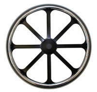 "24x1"" Bariatric Mag Wheel With 2 1/8"" Hub. Sold As Pair"