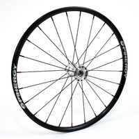 "26"" Spinergy, 24 Spoke Rear Wheel with Chrome Hub & Black Spokes"