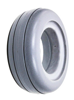 AL134P- 6X2 LIGHT GRAY ROUND PROFILE TIRE. SOLD AS PAIR