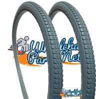 "AL043P- 24 X 1 3/8""  LIGHT GRAY URETHANE STREET TIRE. SOLD AS PAIR"