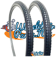 "AL044P- 24 X 1 3/8""  BLACK URETHANE STREET TIRE. SOLD AS PAIR"