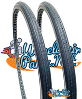 "AL220P- 24 X 1 3/8"" ROUND AEROFLEX TIRE  DARK GRAY.  SOLD AS PAIR"